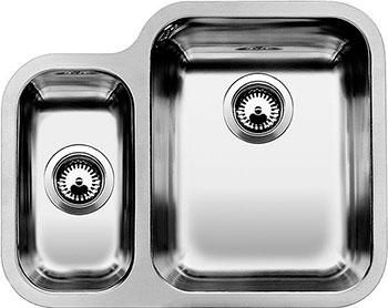 Кухонная мойка BLANCO YPSILON 550-U нерж.сталь полированная с клапаном-автоматом чаша справа мойка кухонная blanco zenar 45s чаша справа белый с клапаном автоматом 519255