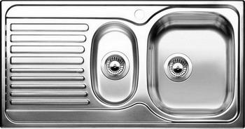BLANCO TIPO 6 S Basic нерж. сталь матовая blanco elipso s ii grey beige