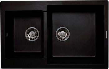 Кухонная мойка LAVA D.3 (LAVA чёрный металлик) кухонная мойка ukinox stm 800 600 20 6