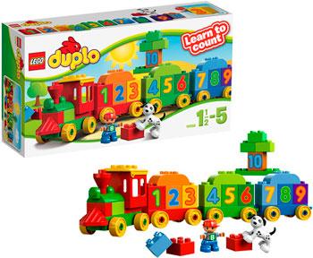 Конструктор Lego Duplo Считай и играй 10558 lego lego duplo 10831 моя веселая гусеница