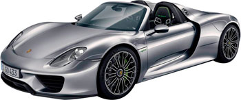 Машинка BBurago Porsche 918 Spyder металл. 18-21076 bburago 1 32 bb машина porsche cayman s металл