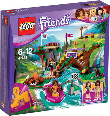 Конструктор Lego FRIENDS СПОРТИВНЫЙ ЛАГЕРЬ: СПЛАВ ПО РЕКЕ 41121 figures houses girl friends stephanie mia olivia andrea emma andrea blocks learning toy gift compatible with with friends gift