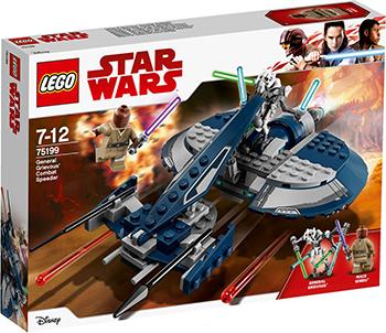 Конструктор Lego Star wars Боевой спидер генерала Гривуса 75199 конструктор lego star wars боевой набор повстанцев 75164