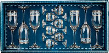 Фото - Подарочный набор Гусь Хрустальный 12 пр. арт.1611-ГЗ (Люкс) мини бар гусь хрустальный 12пр арт 1501 нг крокус нацвет гравировка фиолетовый