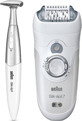 Эпилятор + триммер BRAUN 7-561 WD + 6/432 триммер braun fg 1100 silkfinish
