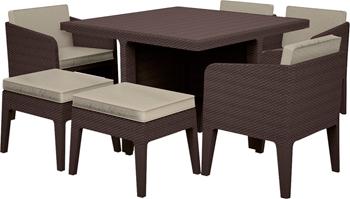 Комплект мебели Keter Columbia set 7 предм коричневый 17204121/КОР стол для гриля keter unity 93 l коричневый 17202663