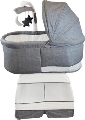 Детская кроватка BLISS Deluxe Серый меланж BA 302-STW