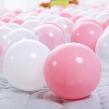 Набор мячей для сухого бассейна Hotnok Карамелька (50шт: розов и белый) sbh 131 карамелька для малышей