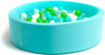 Бассейн сухой Hotnok ''Эко'' 200 шариков (мятный зеленый белый прозрачный) sbh 019