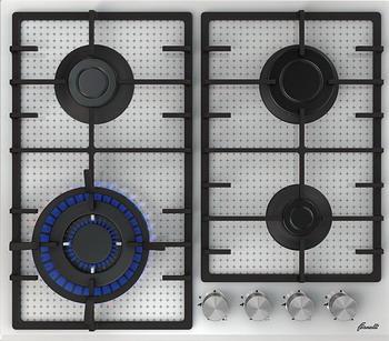 Встраиваемая газовая варочная панель FORNELLI PGT 60 ARDORE WH варочная панель fornelli pgt 45 adamello iv