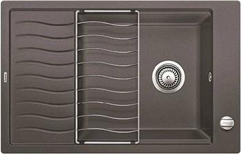 Кухонная мойка BLANCO ELON XL 6S SILGRANIT темная скала с клапаном-автоматом inFino 524835 мойка кухонная blanco elon xl 6 s жасмин с клапаном автоматом 518740
