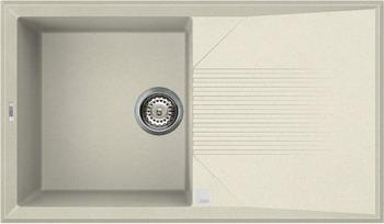 Кухонная мойка Elleci TEKNO 400  granitek (62) Bianco Antico LGT 40062