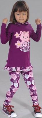 Туника Fleur de Vie 24-1770 рост 110 фиолетовый пальто fleur de vie fleur de vie mp002xg002gn
