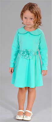 Платье Fleur de Vie 24-2300 рост 92 св. зеленый