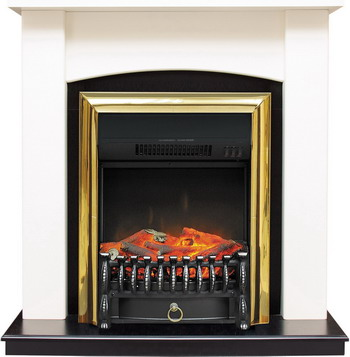 Каминокомплект Royal Flame Baltimore с очагом Fobos BR сл.кость/черный royal flame fobos fx brass rb std5brfx 64905218