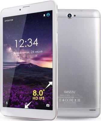 Планшет Ginzzu GT-8010 серебристый планшет ginzzu gt x770 black mtk8735m 1