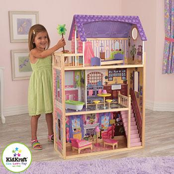 Домик из дерева для кукол 30 см KidKraft Кайла 65092_KE кукольный домик kidkraft кайла с мебелью