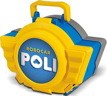 Кейс с трансформером Robocar Poli Поли 12 5см с гаражом