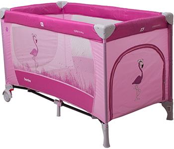 Туристическая кроватка - манеж CotoBaby САМБА ПРОСТЕ Розовый YASH 66661