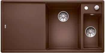 Кухонная мойка BLANCO AXIA III 6 S InFino Silgranit мускат (столик ясень) 523470 кухонная мойка blanco axia iii xl 6 s infino silgranit мускат столик ясень 523508