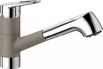 Кухонный смеситель BLANCO NOTIS-S SILGRANIT серый беж смеситель для кухни blanco linus silgranit серый беж 517622