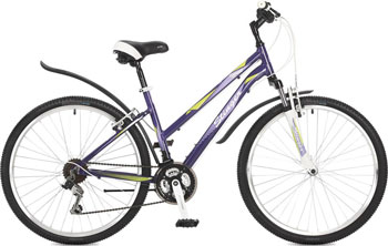 Велосипед Stinger 26'' Element lady 15'' фиолетовый 26 AHV.ELEML.15 VT7 велосипед stinger element lady d 26 2016