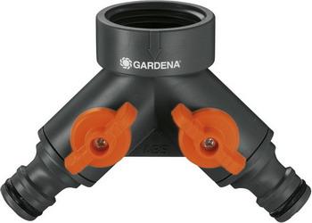 Распределитель Gardena 2-х канальный 1'' 00940-20 распределитель gardena 2 х канальный 3 4 00938 20 000 00