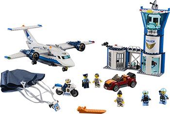 Конструктор Lego CITY Police Воздушная полиция: авиабаза 60210 lego city police station architecture building blocks model kit plate educational toys for children l60047