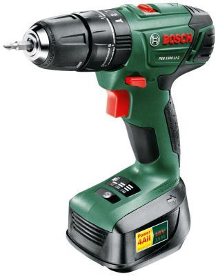 Дрель-шуруповерт Bosch PSB 1800 LI-2 (0.603.9A3.320) электроинструмент bosch psb 1800 li 2 06039a3321