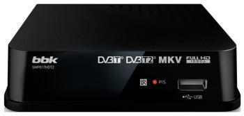 Цифровой телевизионный ресивер BBK SMP 017 HDT2 чёрный