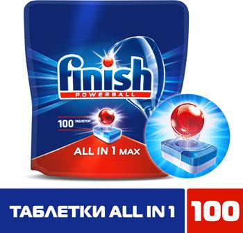 Таблетки для посудомоечных машин FINISH All in1 100шт моющее средство для посудомоечной машины finish all in 1 max power pure 25табл