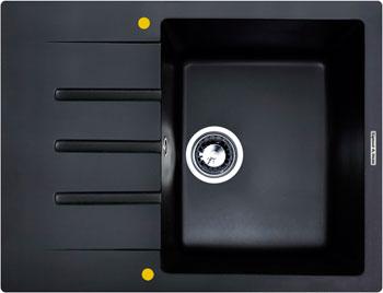 Кухонная мойка Zigmund amp Shtain RECHTECK 645 черный базальт кухонная мойка zigmund amp shtain eckig 800 черный базальт