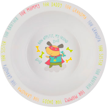 Тарелка глубокая Happy Baby FEEBING BOWL 15016 DOG schale bowl
