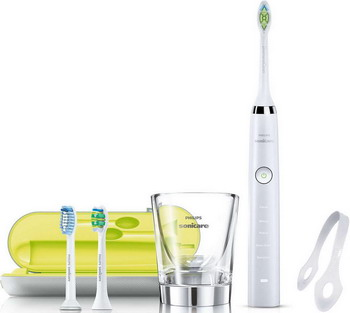 Электрическая зубная щетка Philips HX 9332/35 Sonicare DiamondClean белая керамика 2pcs philips sonicare replacement e series electric toothbrush head with cap