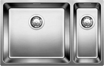 Кухонная мойка BLANCO ANDANO 500/180-U нерж.сталь полированная без клапана-автомата левая мойка кухонная blanco andano 450 u нерж сталь зеркальная полировка без клапана автомата 522963 519373