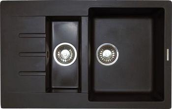 Кухонная мойка LAVA D.2 (LAVA чёрный металлик) автомагнитола jvc kd x355