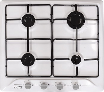 Встраиваемая газовая варочная панель Ricci RGN-610 WH ricci rgn 610 bg