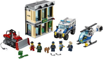 Конструктор Lego City Police: Ограбление на бульдозере 60140 building blocks city police station coastal guard swat truck motorcycle learning