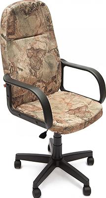 Офисное кресло Tetchair LEADER (ткань принт ''Карта на бежевом'') кресло tetchair step ткань карта на бежевом