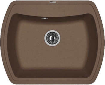 Кухонная мойка Florentina Нире-630 630х510 мокко FSm искусственный камень мойка florentina нире 480 грей