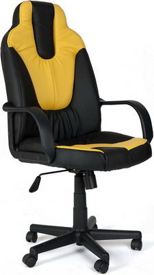 Кресло Tetchair NEO (1) (кож/зам черный жёлтый PU 36-6/36-14) кресло tetchair neo 1 кож зам черный жёлтый pu 36 6 36 14