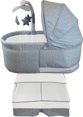 Детская кроватка BLISS Deluxe Голубой меланж BA 302-CBY
