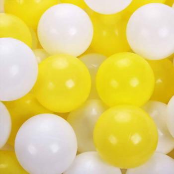 Набор мячей для сухого бассейна Hotnok Мыльные пузыри (50шт: желт и бел) sbh 132