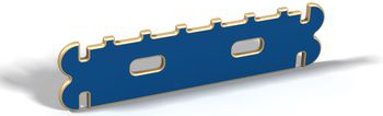 Элемент стандарт с зубьями игрового детского контруктора-транформера, (древесный, красный, зеленый, синий, желтый) Hotnok серии ''Архитектор'' ArchP-4 жен ожерелья с подвесками мода перо красный синий темно зеленый 35cm ожерелье назначение праздники для улицы