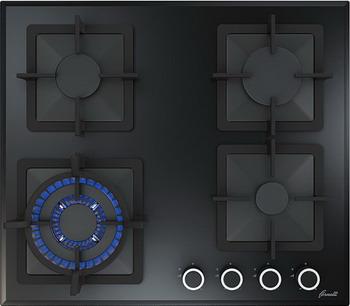 Встраиваемая газовая варочная панель FORNELLI PGT 60 CALORE BL варочная панель fornelli pgt 60 calore black