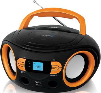 Магнитола BBK BS 15 BT черный/оранжевый
