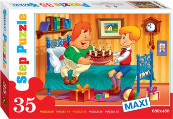 Настольная игра пазл Степ День Рождения Макси 35 дет.