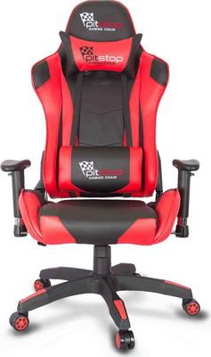 Кресло College XH-8062 LX черное с красным