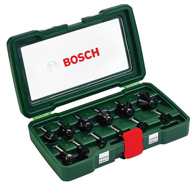 Набор фрез Bosch Promoline 8 мм хвостовик 12 шт. 2607019466