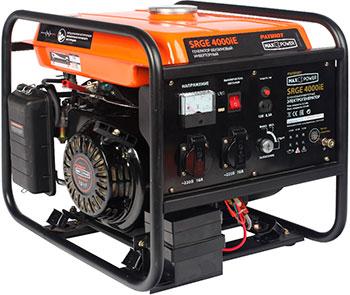 Электрический генератор и электростанция Patriot 474101622 MaxPower SRGE 4000 i генератор инверторный patriot maxpower srge 4000i